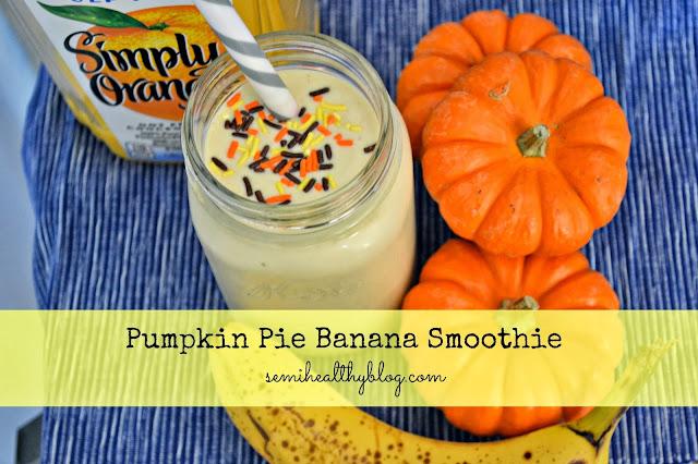 pumpkin pie banana smoothie