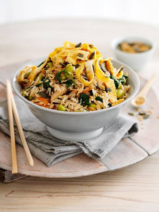 Egg And Spinach Hoi Sin Rice Recipe: Quick And Easy Dish
