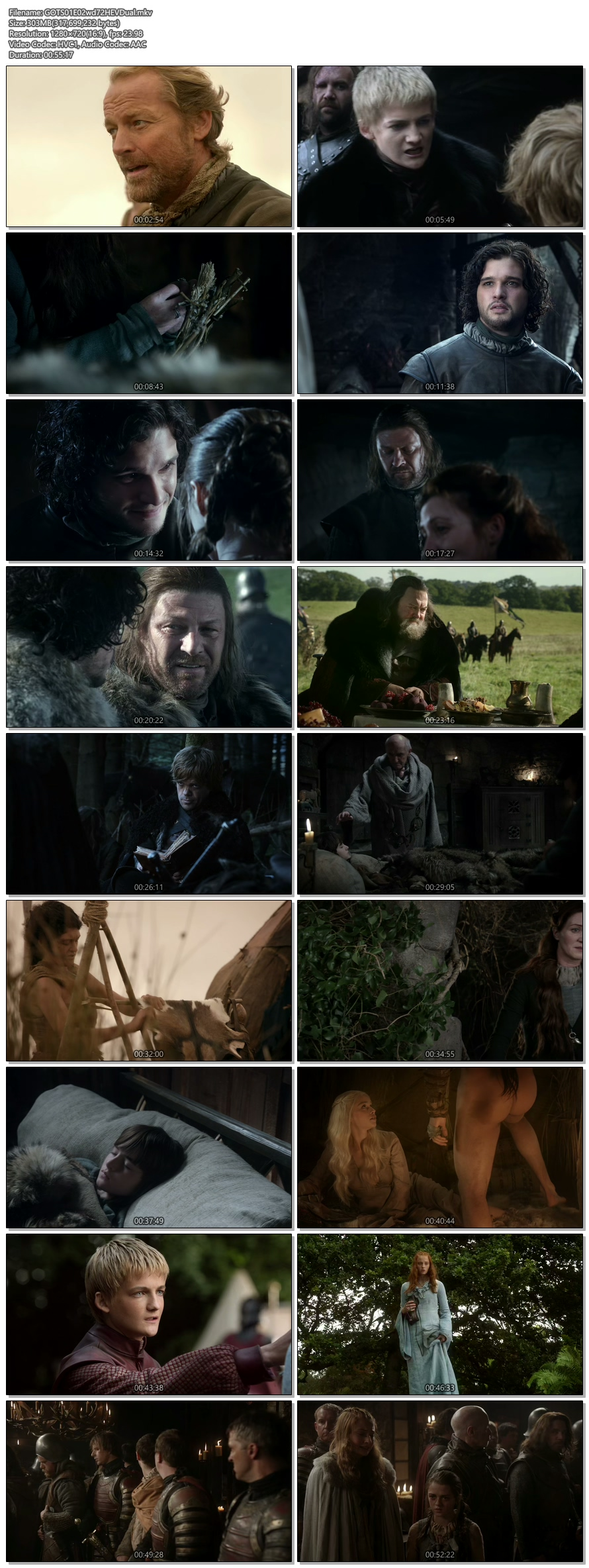 Screenshots Of Hindi Dubbed Show Game Of Thrones 2011 Season 01 Episode 02 300MB 720P HD