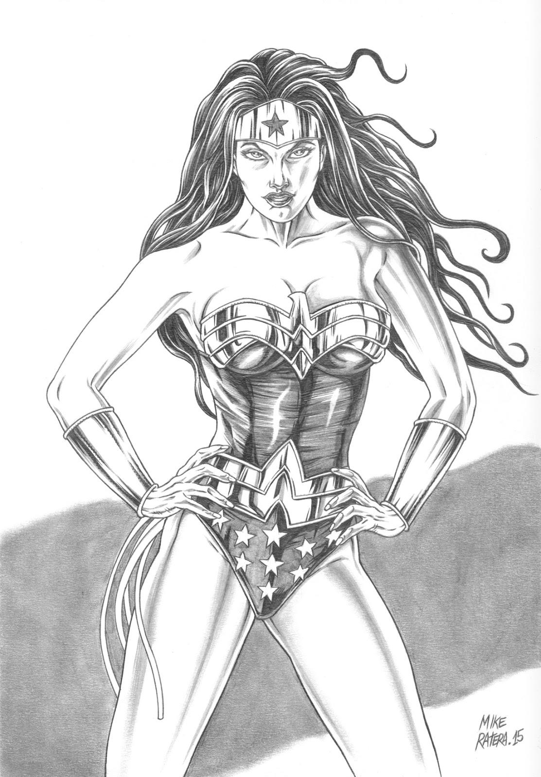 Mike Ratera Artblog Wonder Woman Sale Drawings