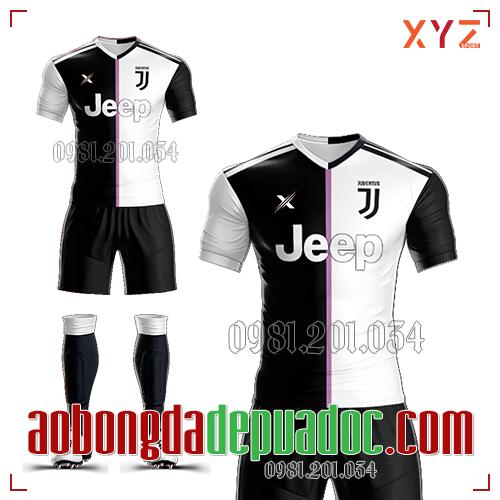 Áo Juventus 2019 Sân Nhà Màu Trắng Đen