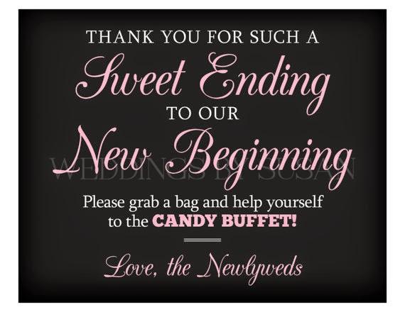 eccf74249a530d Sweet Ending to our New Beginning Candy Buffet