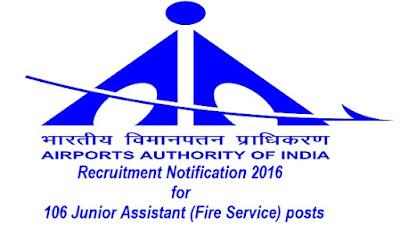 AAI Recruitment 2016
