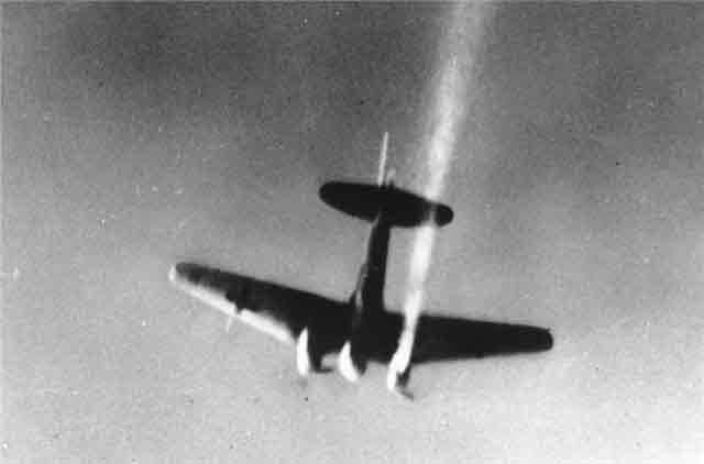 German bomber crashing, 2 November 1941 worldwartwo.filminspector.com