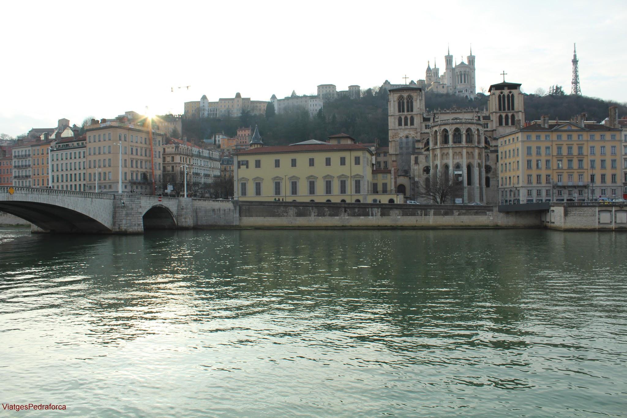 Vieux Lyon, Fourviere, Lyon, Rhône-Alpes, França, Rhône, Saone