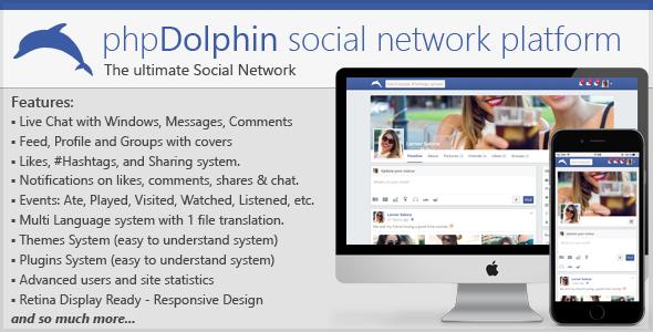 phpDolphin v2.0.7 – Social Network Platform