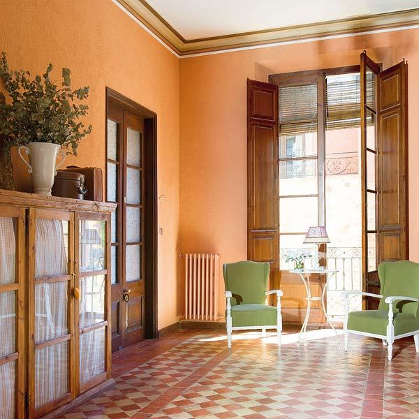 Paredes terracota jeito de casa blog de decora o for Pintura de paredes interiores fotos