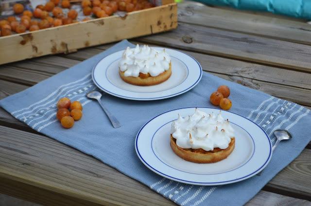 Tartelettes meringuées aux mirabelles