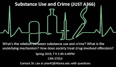 JUST A366 — Substance Use and Crime flyer
