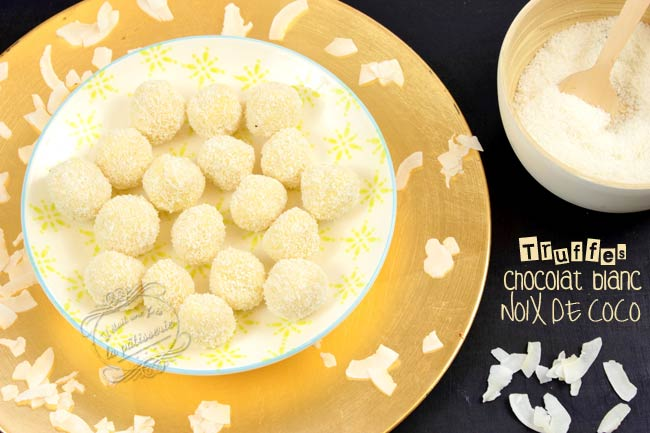 recette truffes chovolat blanc coco