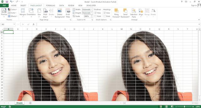 Cara memasukan gambar background di excel