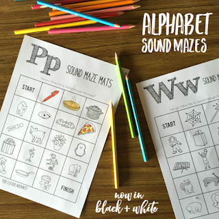 Alphabet Sound Mazes - perfect for practicing beginning letter sounds | you clever monkey