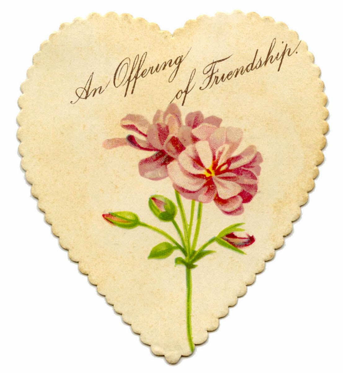 Vintage friendship valentine