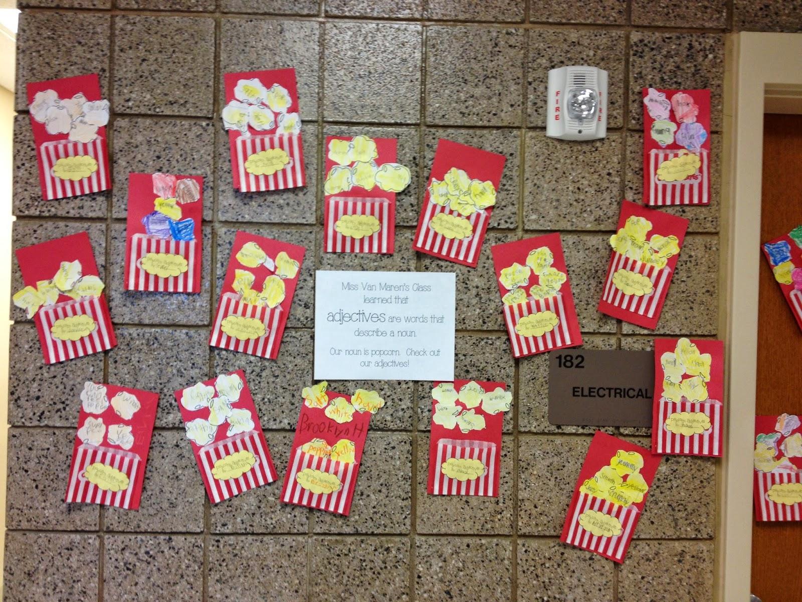 Miss Van Maren S Fantastic First Grade Popcorn Adjectives