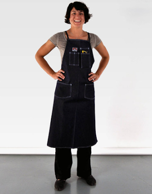 denin apron with pockets