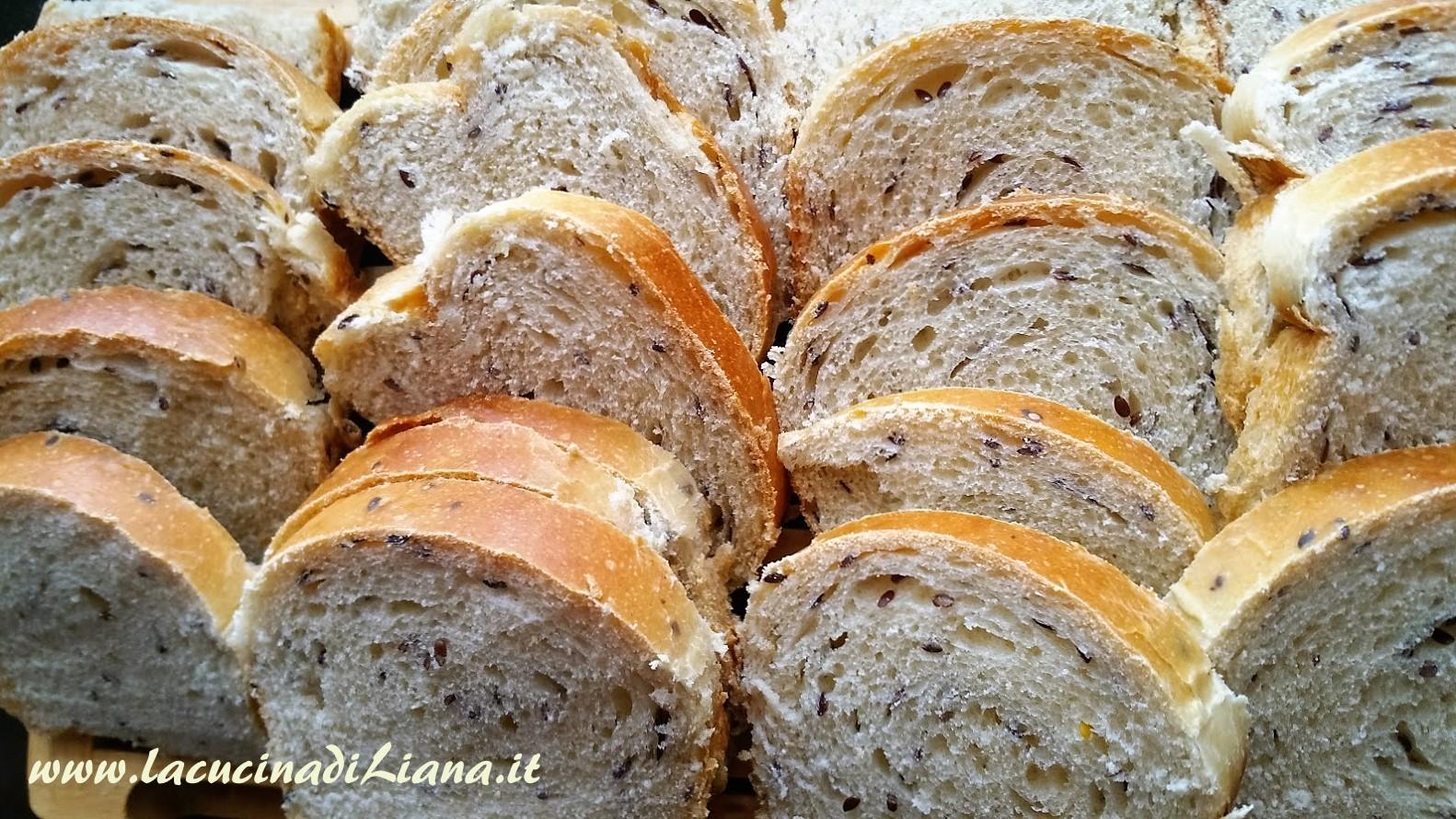 La Cucina di Liana Panbauletto ai semi di lino