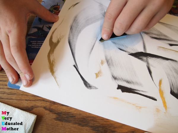 This is an amazing marbling technique to try with older kids! via myveryeducatedmother.com