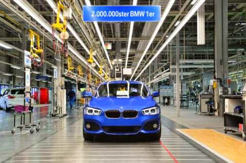 The 2 millionth BMW 1 Series on the production line