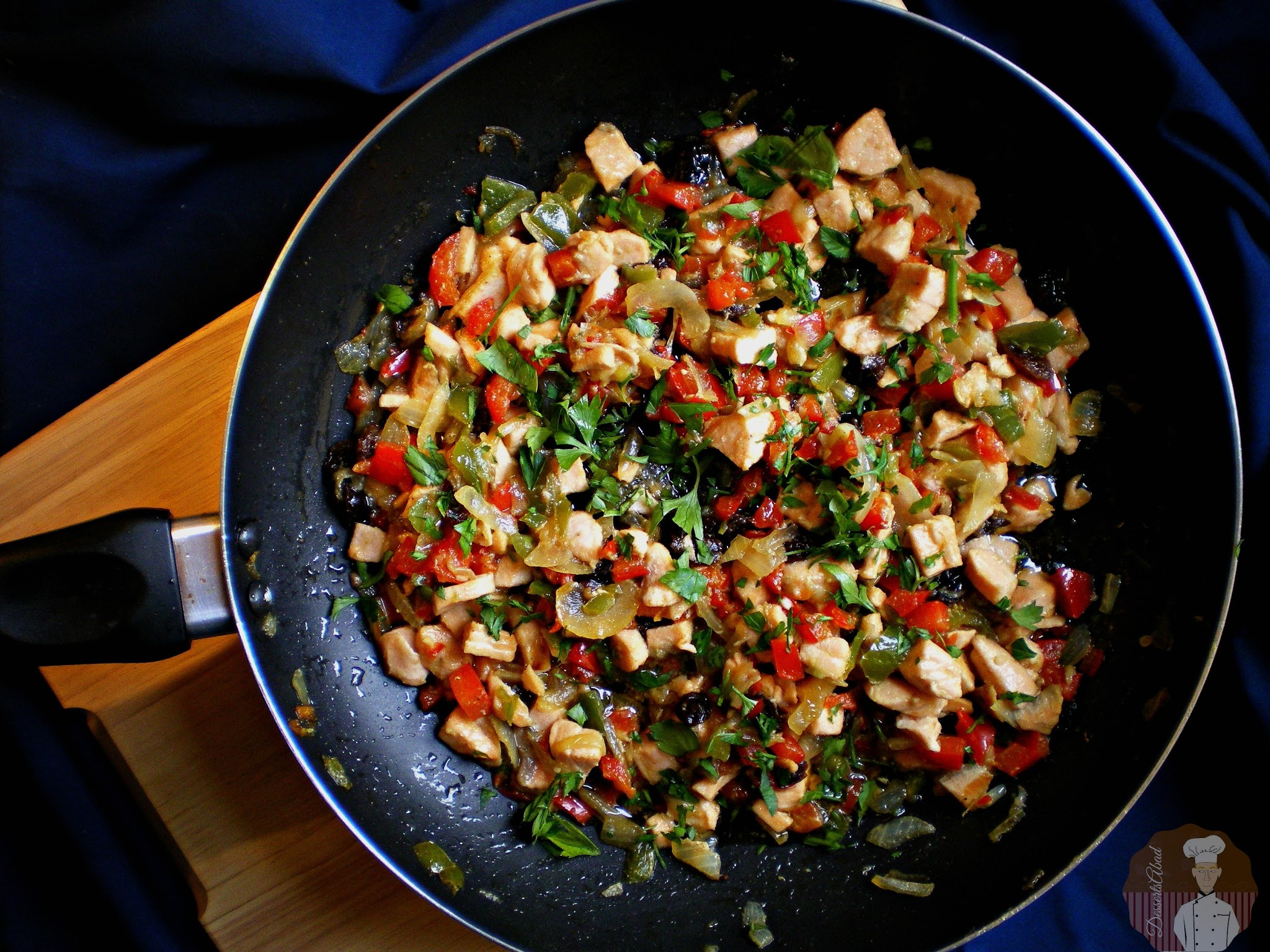 Calzone de salmon con verduras: Relleno