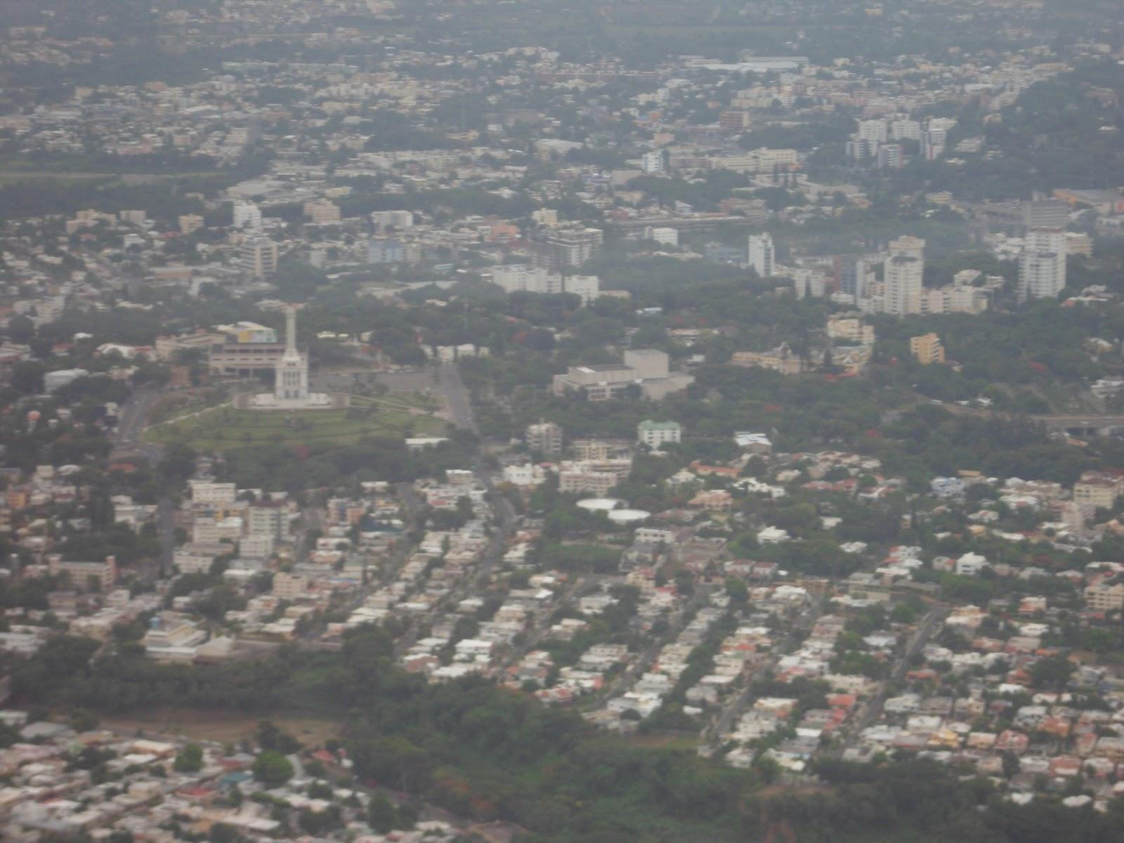 Vista aerea de Santiago
