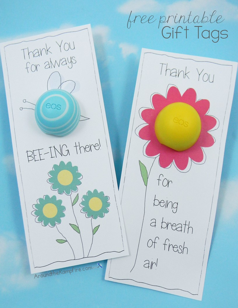 picture about You're the Balm Teacher Free Printable known as EOS Lip Balm Absolutely free Printable Thank Yourself Tags - In the vicinity of the Kampfire