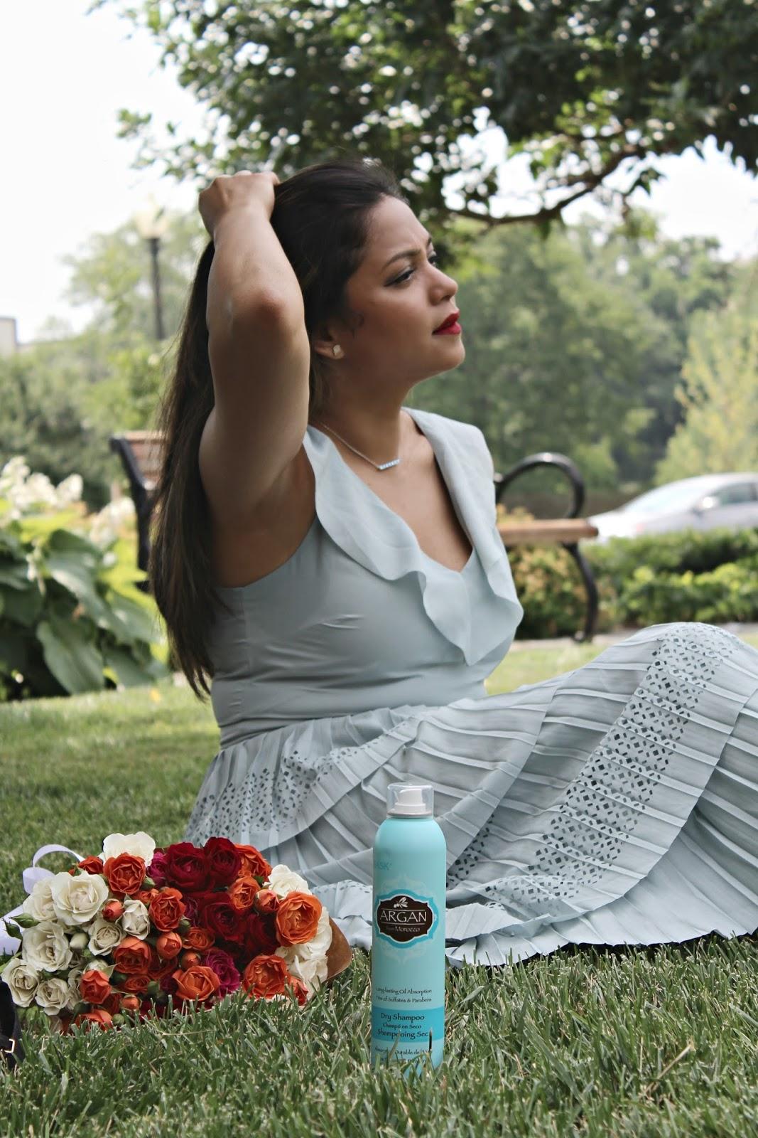 beauty products for summer, hask, dry shampoo, sponsored, beauty, hair care, eye cream, eye mask, loreal, influenster , saumya , myriad musings
