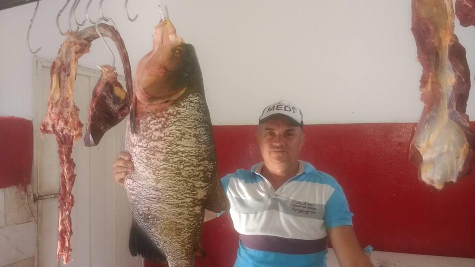 Pescador pega peixe de 15 kg em açude de Santana dos Garrotes