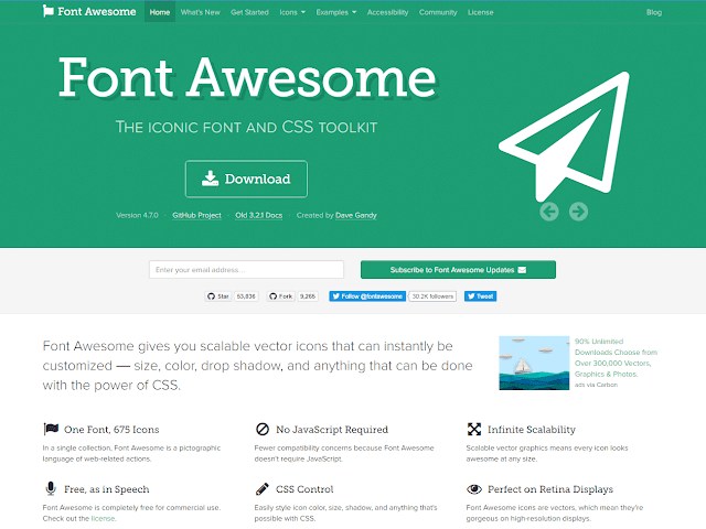 Free Blogger Theme with AMP use Font Awesome CSS Toolkit