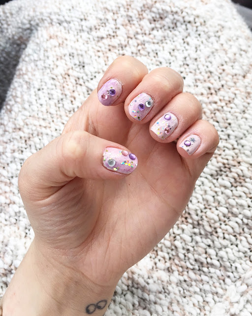 Unicorn nail art, Barry M, nail art
