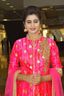 Shamili in Pink Anarkali Dress 01.JPG