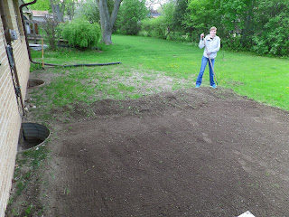 My wife tills the soil