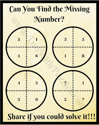 Mind Twisting Math Circle Puzzle Question