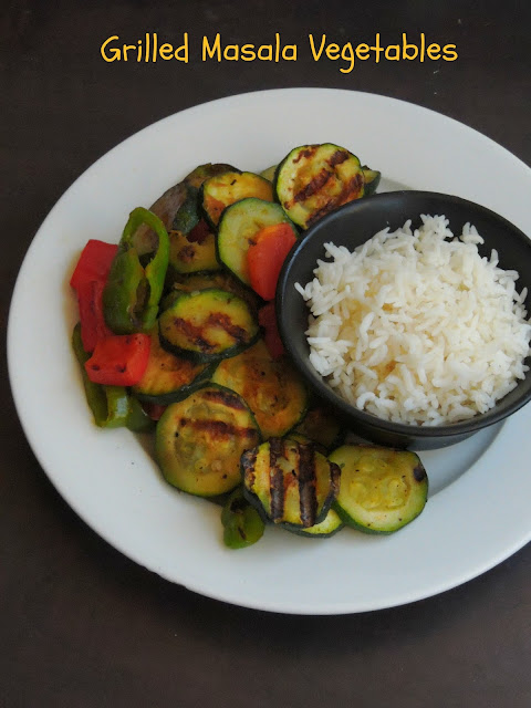 Grilled Masala vegetables