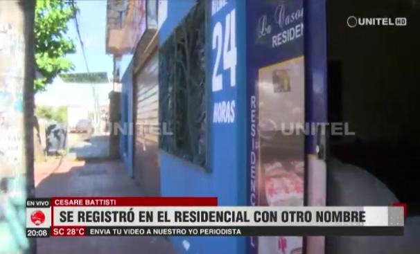 Residencial La Casona Azul albergó al terrorista durante dos semanas / CAPTURA PANTALLA UNITEL