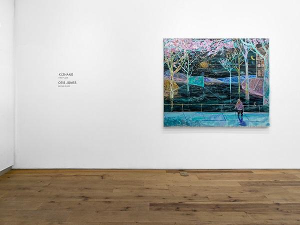Marc Strauss Installation Xi Zhang artworks Feb 2018