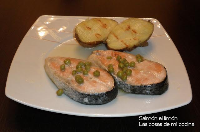 salmón al limón