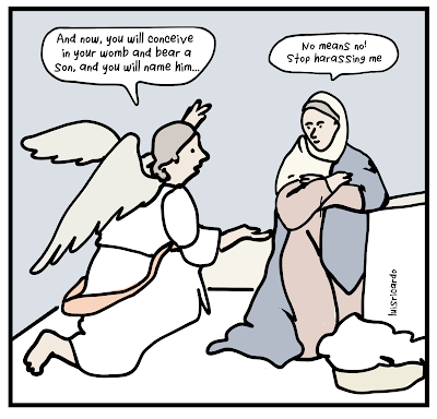 Cartoon about The Annunciation