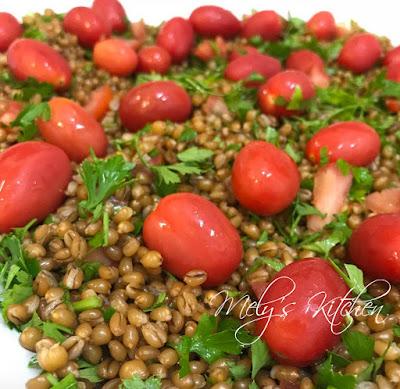 Wheat Berry and Cherry Tomato Salad