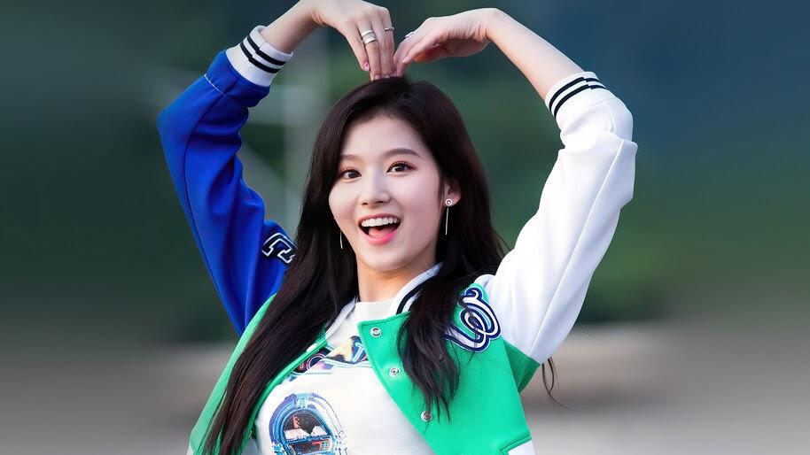 Sana, K-Pop, Girl, Heart, TWICE, 4K, #6.840