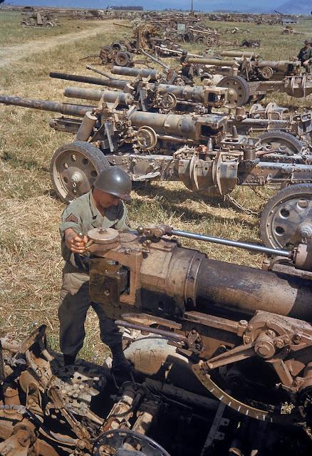 El Guettar, April 1943 color photos of World War II worldwartwo.filminspector.com