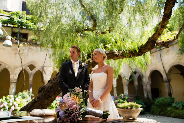 Civil wedding ceremony at cloisters San Francesco
