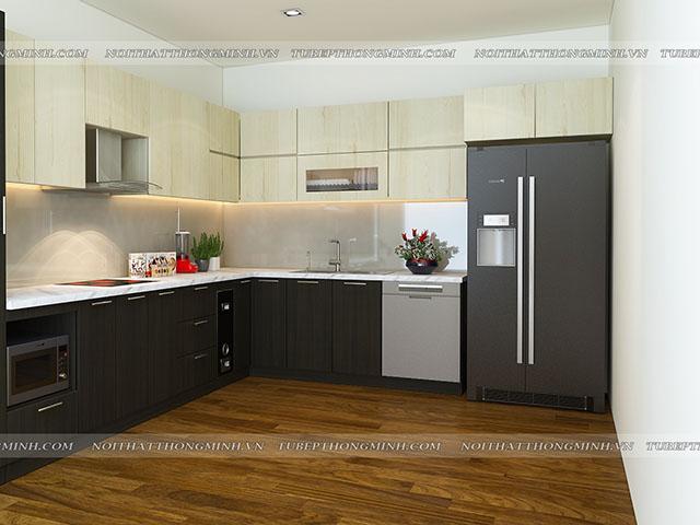 Mẫu thiết kế tủ bếp nhựa laminate-10