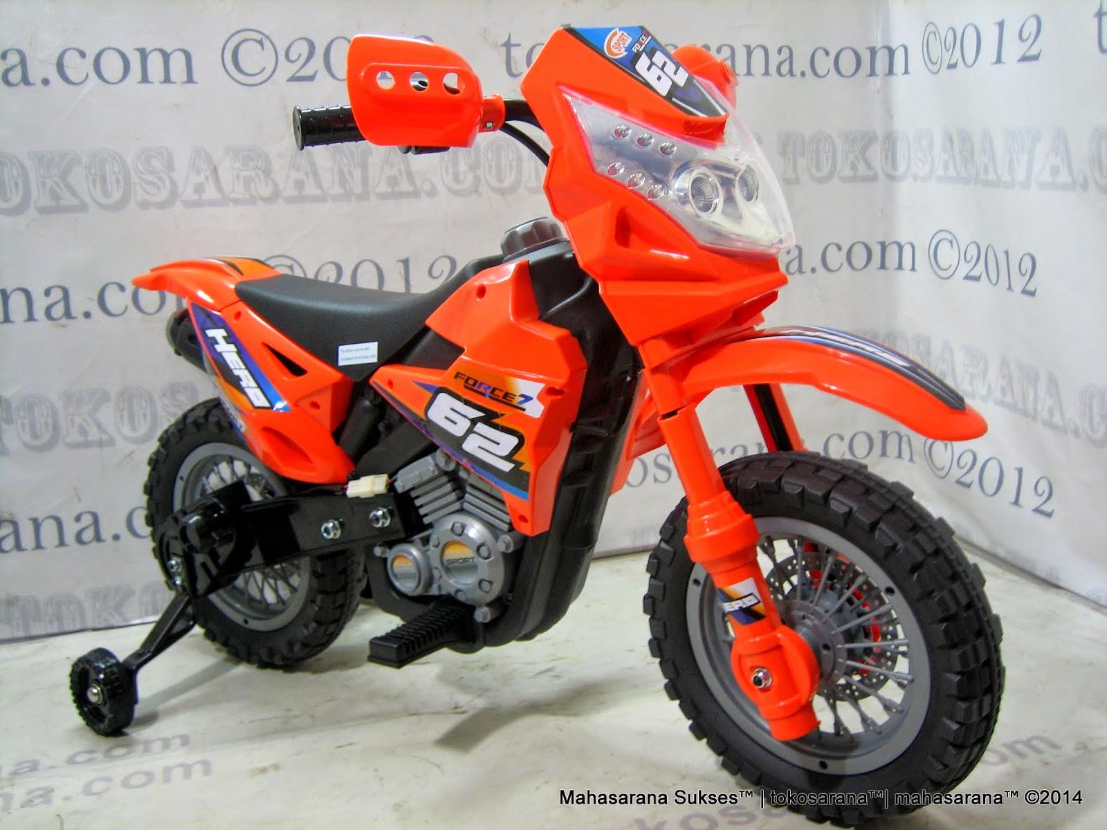 Motor Mainan Aki DoesToys DT413 Hero Force 62 Motocross