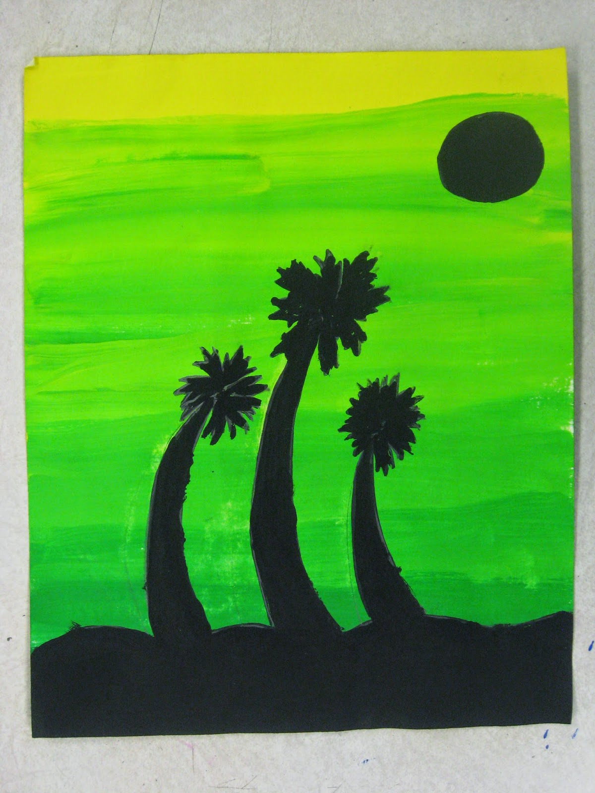 Miss Young's Art Room: 6th Grade Analogous Color Paintings