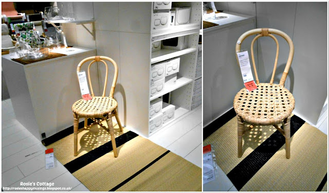 Ikea VIKTIGT chair made of rattan