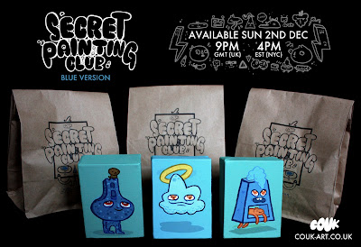 Secret Painting Club Blue Version Blind Bag Painting Series and Packaging by Couk