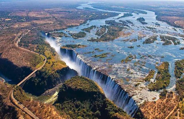 Victoria falls, vista aérea