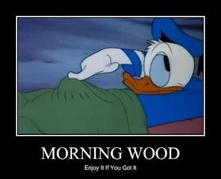 zakar tegang di waktu pagi.