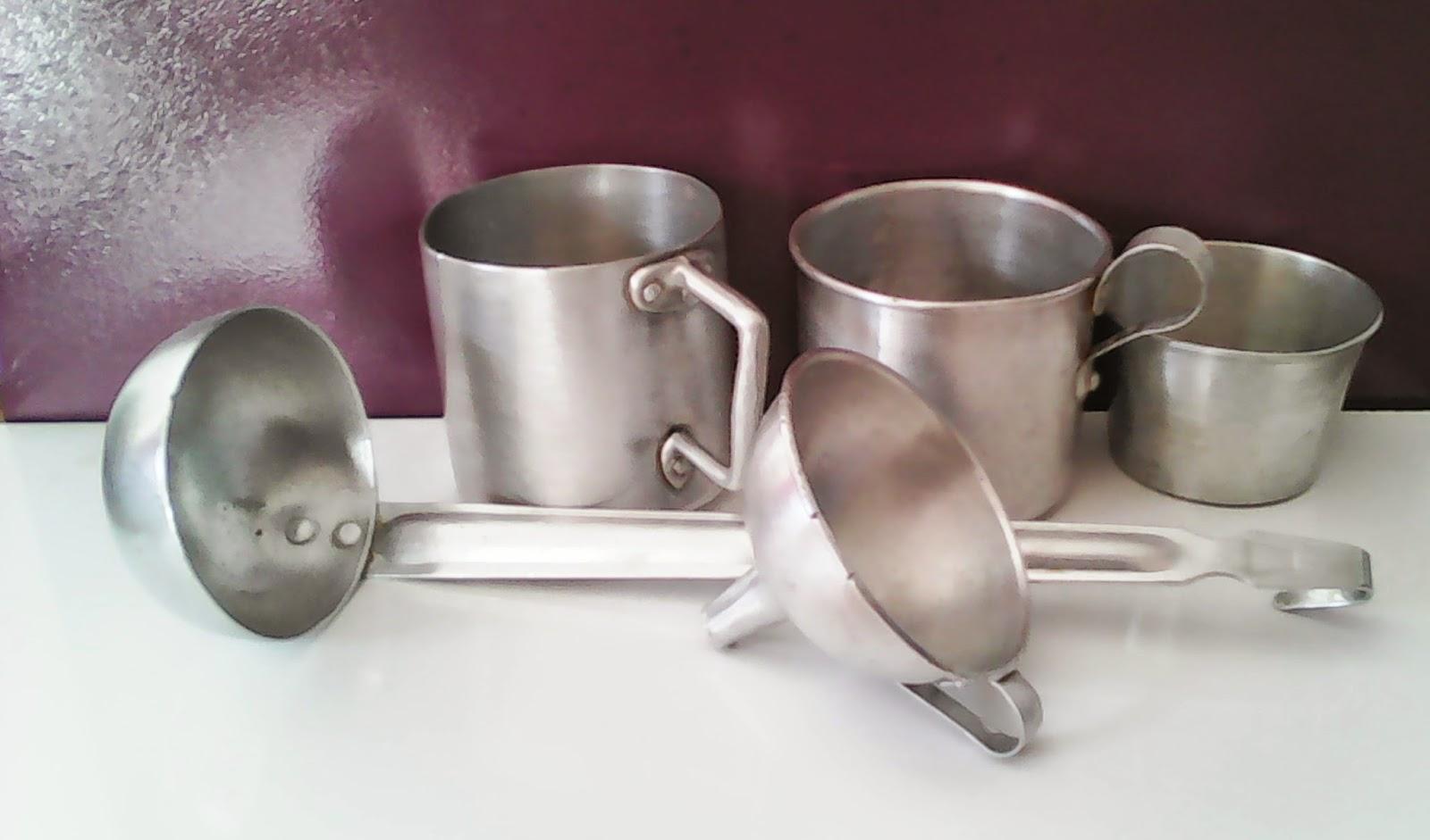 O desván vintage do Pereiro  Lote utensilios de cocina de aluminio ... 19bccfa82b5b