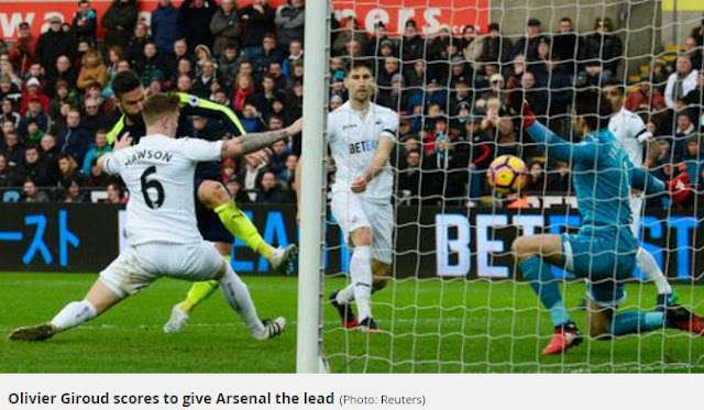 Swansea City vs Arsenal 0-4 Video Gol & Highlights.